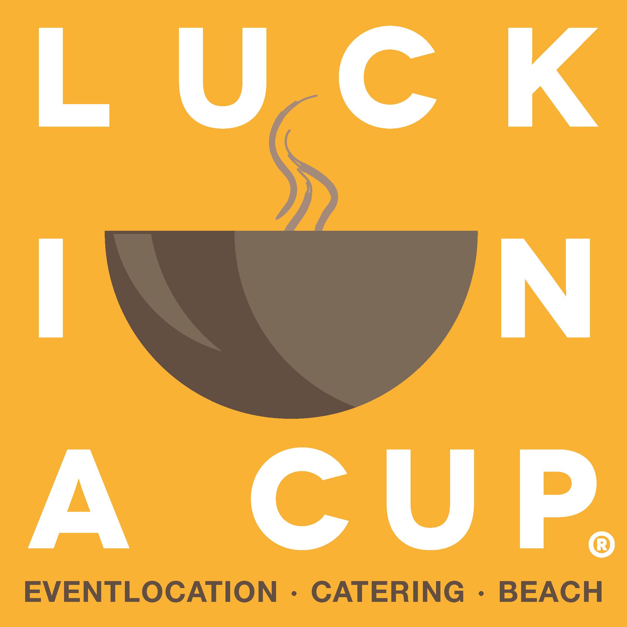 orangenes Logo von Luck in a Cup